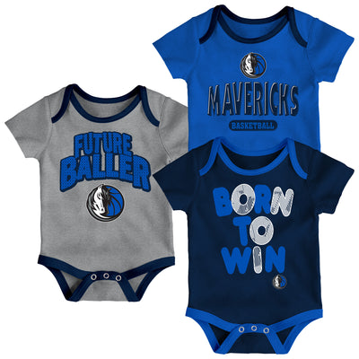 DALLAS MAVERICKS NIKE INFANT LITTLE FAN 3PK ONESIE