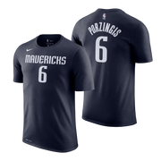 DALLAS MAVERICKS YOUTH PORZINGIS STATEMENT NAME & NUMBER TEE