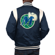 DALLAS MAVERICKS STARTER HWC VINTAGE VARSITY SATIN JACKET