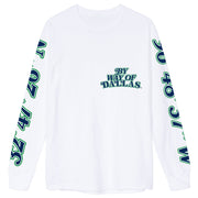 DALLAS MAVERICKS x BY WAY OF DALLAS BASKETBALL LONG SLEEVE WHITE TEE