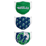 DALLAS MAVERICKS HARDWOOD CLASSIC FACE COVERINGS - 3 PACK