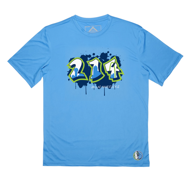 DALLAS MAVERICKS CITY EDITION 19-20 BLUE 214 SKYLINE TEE