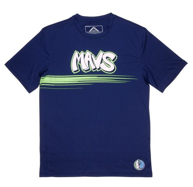 DALLAS MAVERICKS CITY EDITION 19-20 NAVY GRAFFITI TEE