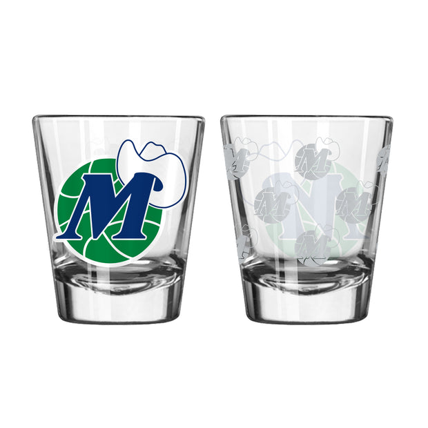 DALLAS MAVERICKS 2 OZ HWC SATIN ETCH SHOT GLASS