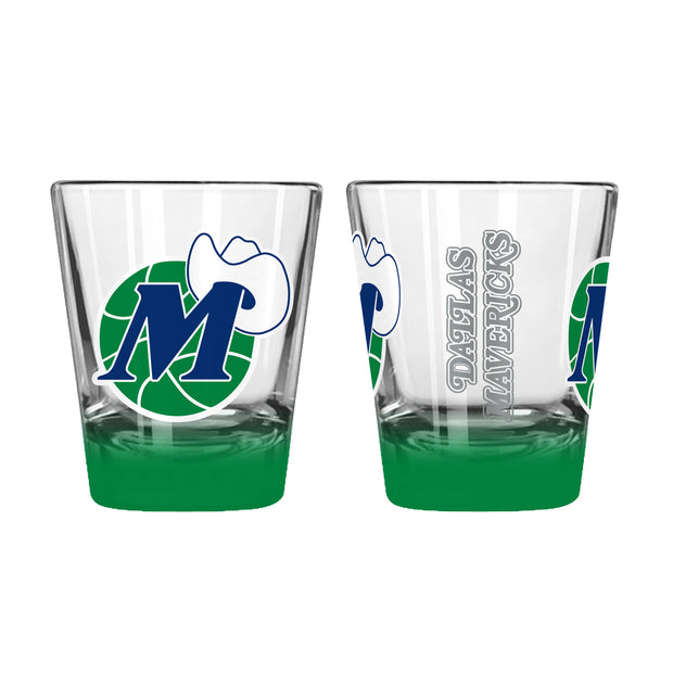 DALLAS MAVERICKS 2 OZ HWC ELITE SHOT GLASS