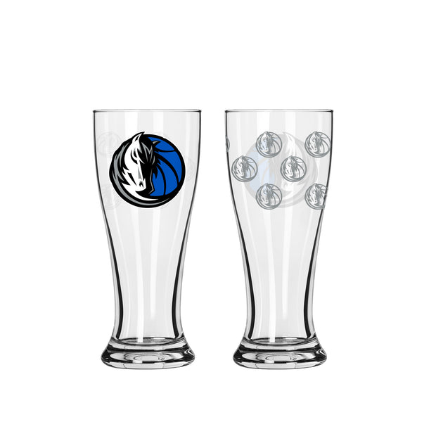 DALLAS MAVERICKS 2.5 OZ HORSE HEAD ETCH MINI PILSNER
