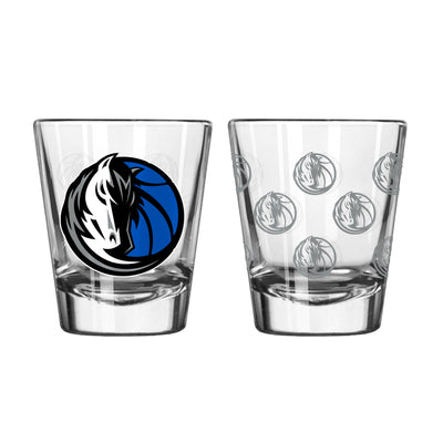 DALLAS MAVERICKS 2 OZ HH SATIN ETCH SHOT GLASS