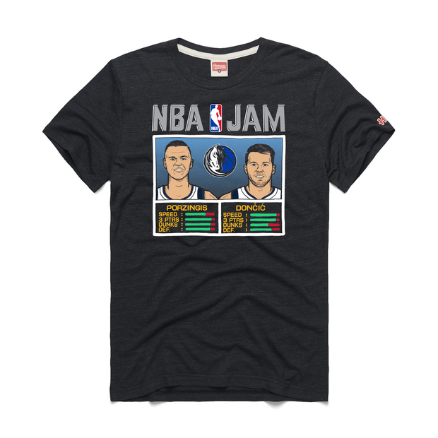 DALLAS MAVERICKS NBA JAM DONČIĆ & PORZINGIS TEE