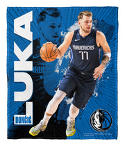 DALLAS MAVERICKS LUKA DONČIĆ FLEECE BLANKET THROW