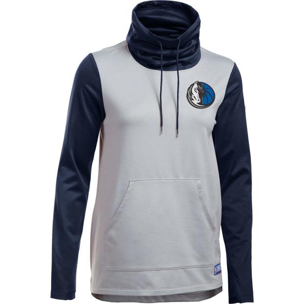 DALLAS MAVERICKS UNDER ARMOUR WOMENS COWL NECK SWEATER HORSEHEAD