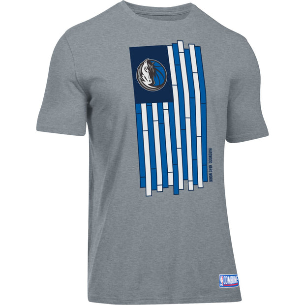 DALLAS MAVERICKS MENS UNDER ARMOUR COURT FLAG SHORT SLEEVE TEE