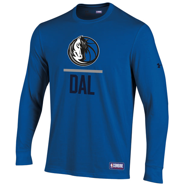 DALLAS MAVERICKS UNDER ARMOUR COMBINE LOCKUP LONG SLEEVE TEE