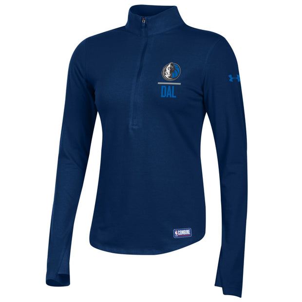 DALLAS MAVERICKS UNDER ARMOUR WOMENS COMBINE DALLAS 1/2 ZIP