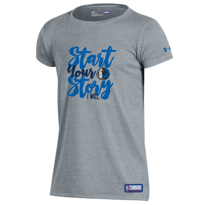 DALLAS MAVERICKS UNDER ARMOUR GIRLS COMBINE START STORY TEE
