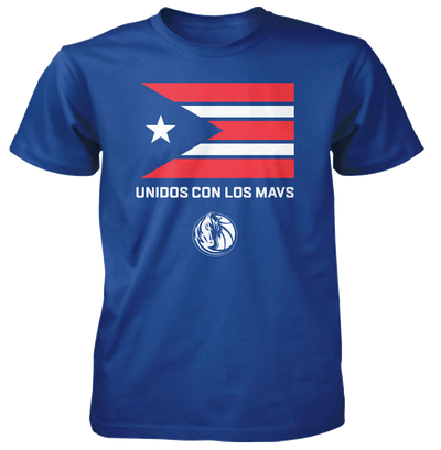 DALLAS MAVERICKS PUERTO RICAN HERITAGE ROYAL TEE