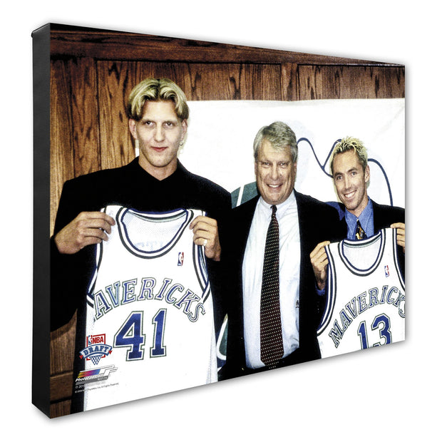 DALLAS MAVERICKS 'ROOKIE' DIRK NOWITZKI CANVAS