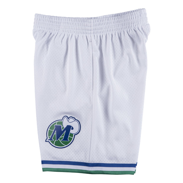 DALLAS MAVERICKS WHITE HARDWOOD CLASSIC SWINGMAN SHORTS