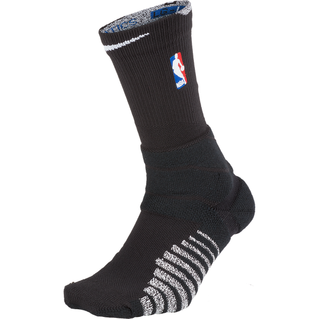 DALLAS MAVERICKS MENS NIKE ON COURT POWER CREW SOCKS BLACK