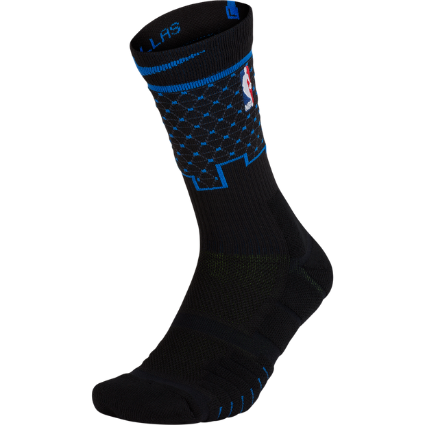 DALLAS MAVERICKS MENS NIKE ON COURT CITY EDITION SOCK