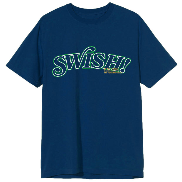 DALLAS MAVERICKS x BY WAY OF DALLAS HARDWOOD CLASSIC SWISH NAVY TEE