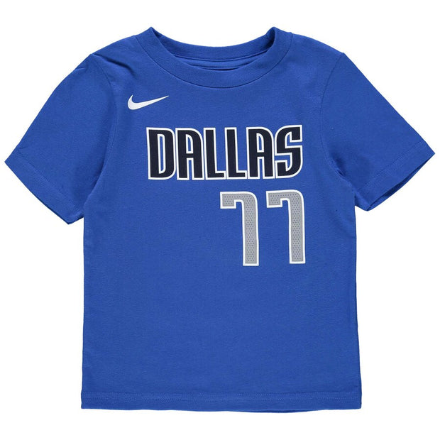DALLAS MAVERICKS NIKE TODDLER DONCIC ICON NAME & NUMBER TEE