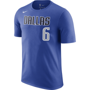 DALLAS MAVERICKS MENS NIKE KRISTAPS PORZINGIS NAME AND NUMBER TEE