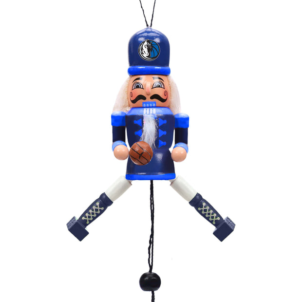 DALLAS MAVERICKS WOODEN NUTCRACKER ORNAMENT