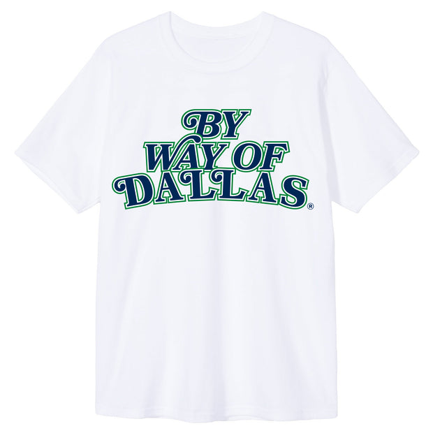 DALLAS MAVERICKS x BY WAY OF DALLAS FRONT LOGO WHITE TEE