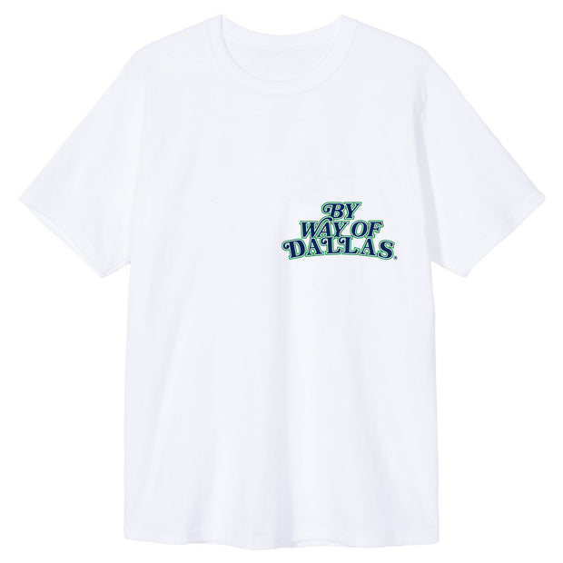 DALLAS MAVERICKS x BY WAY OF DALLAS HARDWOOD CLASSIC M-HAT WHITE TEE