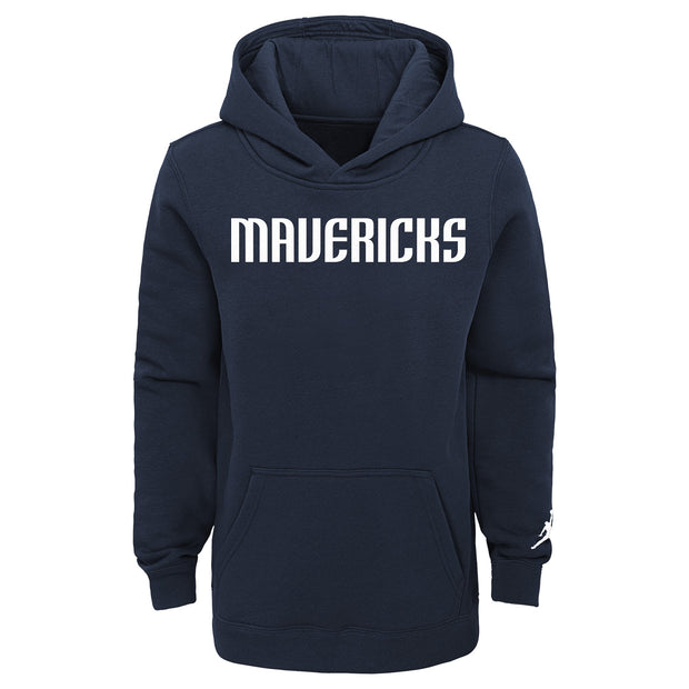 DALLAS MAVERICKS YOUTH JORDAN BRAND ESSENTIAL WORDMARK STATEMENT HOODIE