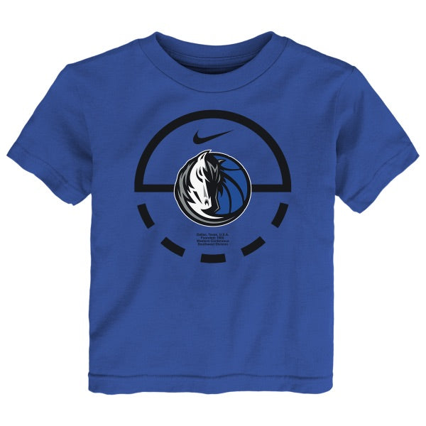 DALLAS MAVERICKS NIKE KIDS ELEMENT ROYAL TEE