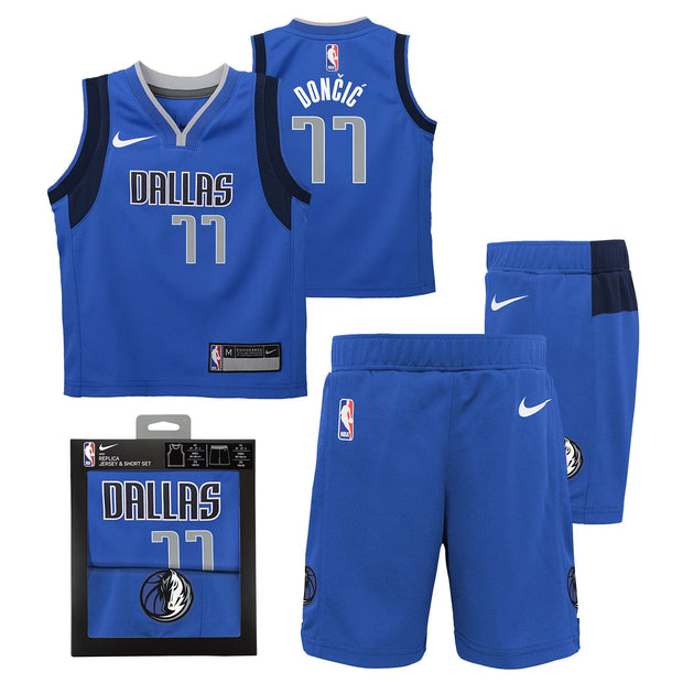 DALLAS MAVERICKS TODDLER DONCIC ICON REPLICA UNIFORM BOX SET