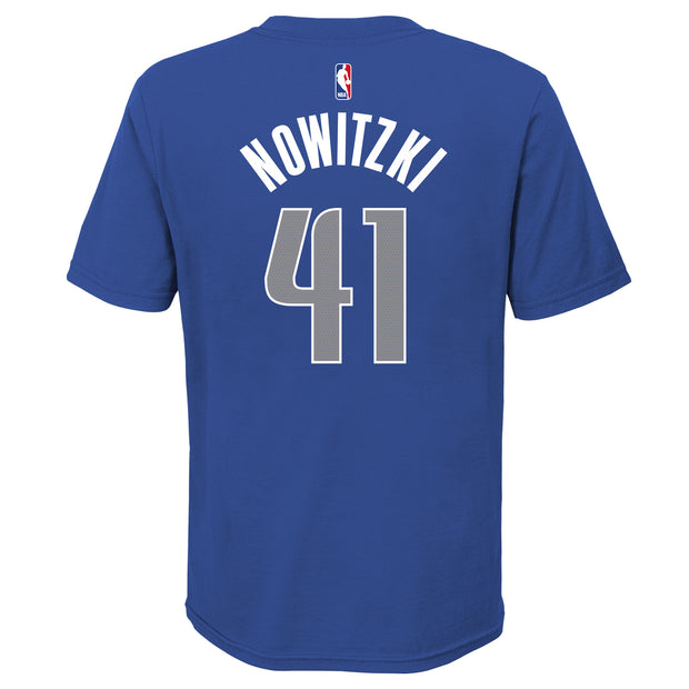 DALLAS MAVERICKS YOUTH DIRK NOWITZKI ICON NAME & NUMBER TEE