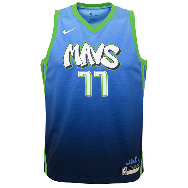 DALLAS MAVERICKS YOUTH DONCIC CITY EDITION 19-20 SWINGMAN JERSEY