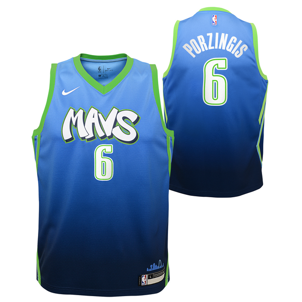 DALLAS MAVERICKS YOUTH PORZINGIS CITY EDITION 19-20 SWINGMAN JERSEY