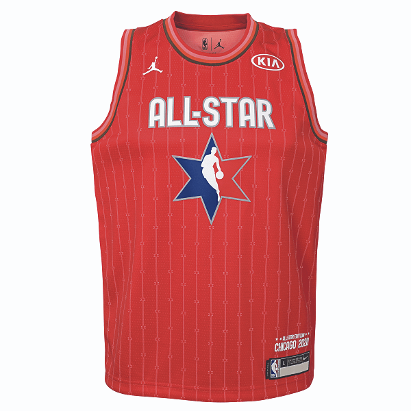 DALLAS MAVERICKS YOUTH LUKA DONČIĆ ALL-STAR 2020 RED JERSEY
