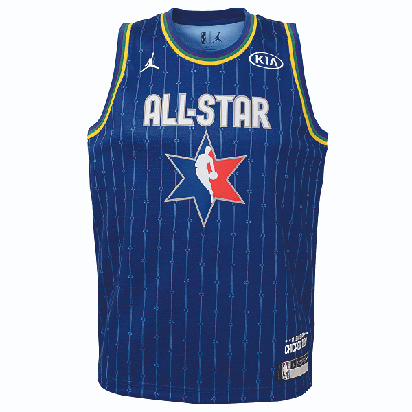 DALLAS MAVERICKS YOUTH LUKA DONCIC ALL-STAR 2020 BLUE JERSEY