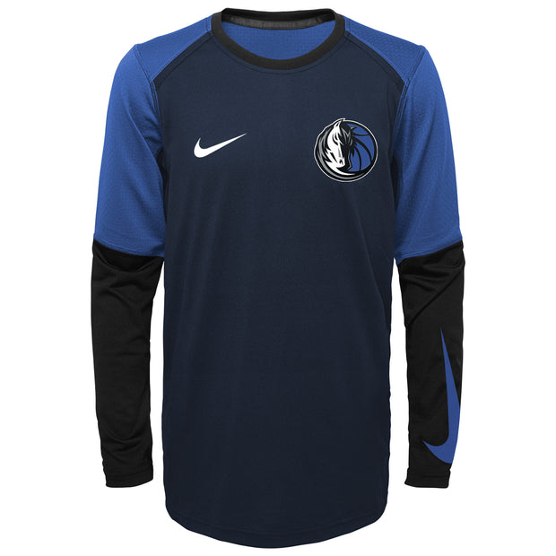 DALLAS MAVERICKS NIKE YOUTH SHOOTER L/S TOP