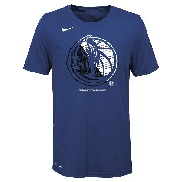 DALLAS MAVERICKS NIKE YOUTH LOGO ROYAL TEE