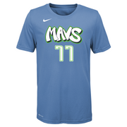DALLAS MAVERICKS YOUTH DONCIC CITY EDITION 19-20 NAME & NUMBER TEE