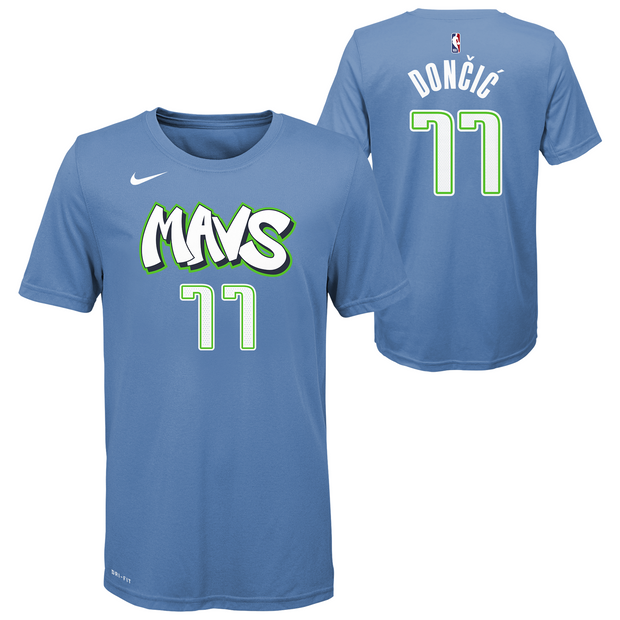 DALLAS MAVERICKS YOUTH DONČIĆ CITY EDITION 19-20 NAME & NUMBER TEE