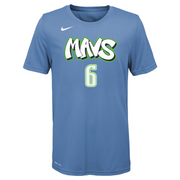 DALLAS MAVERICKS YOUTH PORZINGIS CITY EDITION 19-20 NAME & NUMBER TEE