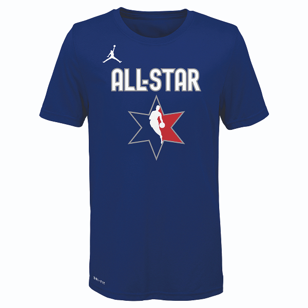 DALLAS MAVERICKS YOUTH LUKA DONČIĆ ALL-STAR 2020 BLUE PLAYER TEE