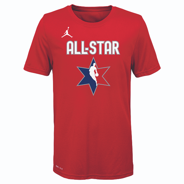 DALLAS MAVERICKS YOUTH LUKA DONCIC ALL-STAR 2020 RED PLAYER TEE