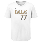DALLAS MAVERICKS YOUTH NIKE LUKA DONČIĆ 20-21 CITY EDITION NAME & NUMBER TEE