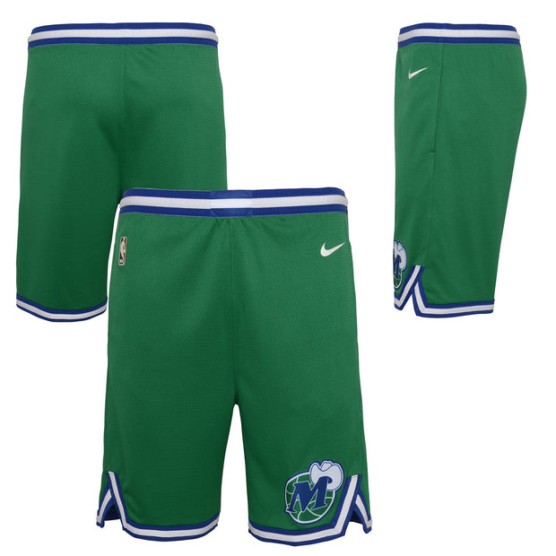 DALLAS MAVERICKS YOUTH NIKE 20-21 HARDWOOD CLASSIC SWINGMAN SHORTS