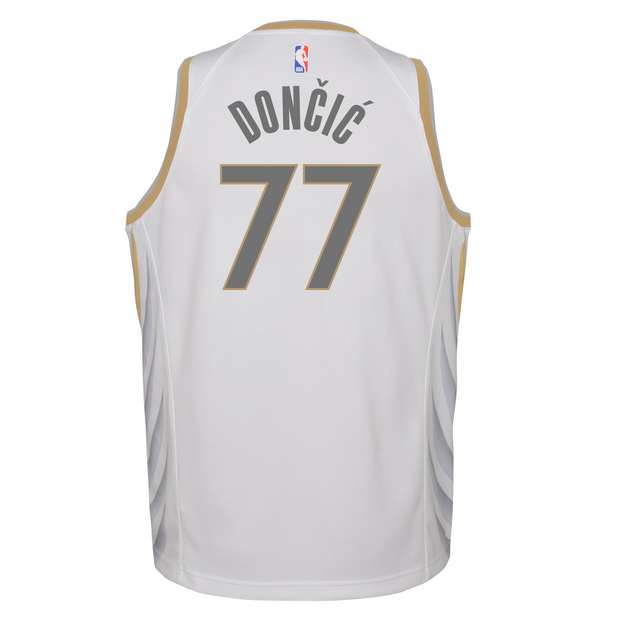 DALLAS MAVERICKS YOUTH NIKE LUKA DONČIĆ 20-21 CITY EDITION SWINGMAN JERSEY