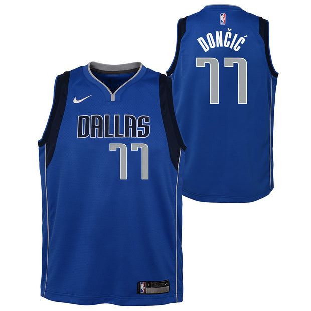 DALLAS MAVERICKS YOUTH DONČIĆ ICON SWINGMAN JERSEY