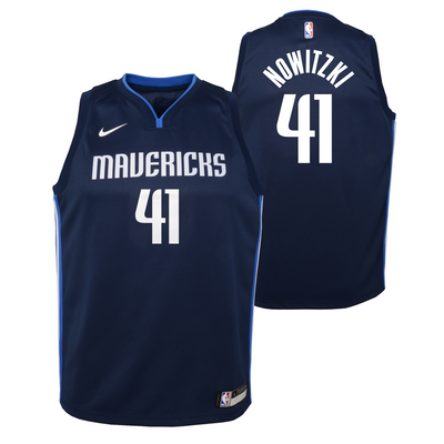 DALLAS MAVERICKS YOUTH NOWITZKI STATEMENT SWINGMAN JERSEY