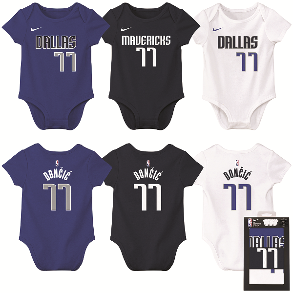 DALLAS MAVERICKS INFANT DONČIĆ 3 PCK CREEPER BOX SET